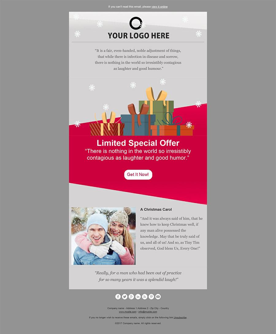 Newsletter di Natale 2017: crea e invia le tue email di auguri